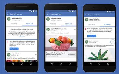 Facebook e la visualizzazione degli annunci attivi sulle pagine