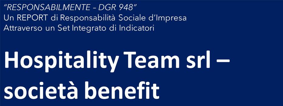 società benefit, L'innovazione delle forme giuridiche d'impresa: le Società Benefit, Hospitality Team, Hospitality Team