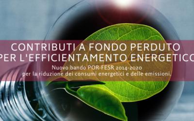 Contributo a fondo perduto per l'efficientamento energetico delle pmi