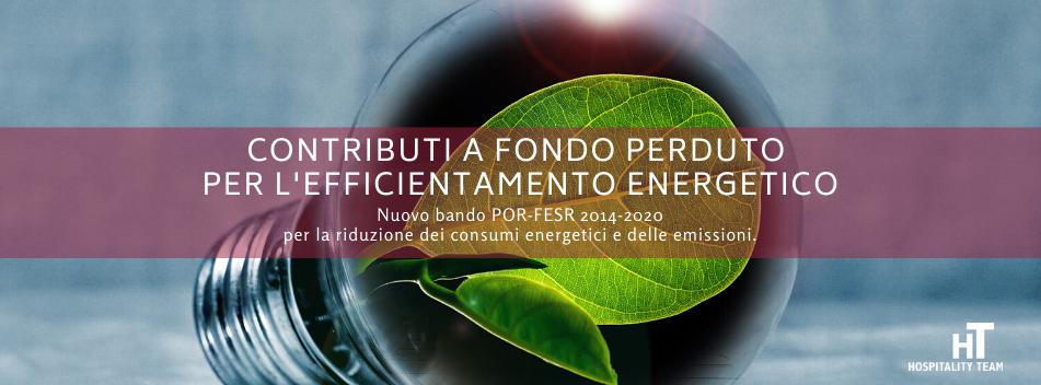 contributo, Contributo a fondo perduto per l'efficientamento energetico delle pmi, Hospitality Team, Hospitality Team