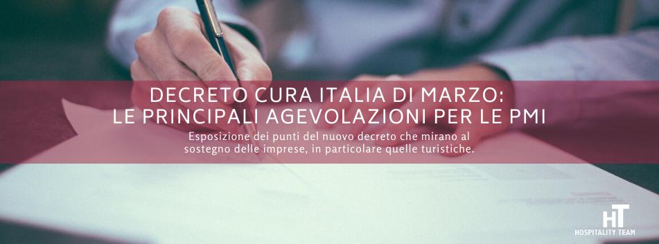 decreto, Decreto Cura Italia di marzo: le principali agevolazioni per imprenditori e autonomi, Hospitality Team, Hospitality Team