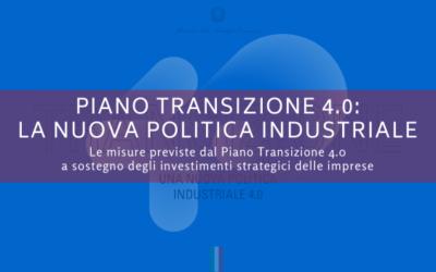 Piano Transizione 4.0, la nuova politica industriale 2020-2022 per il Paese