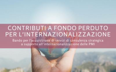 Incentivi all'acquisto di servizi di consulenza strategica per l'internazionalizzazione delle imprese venete