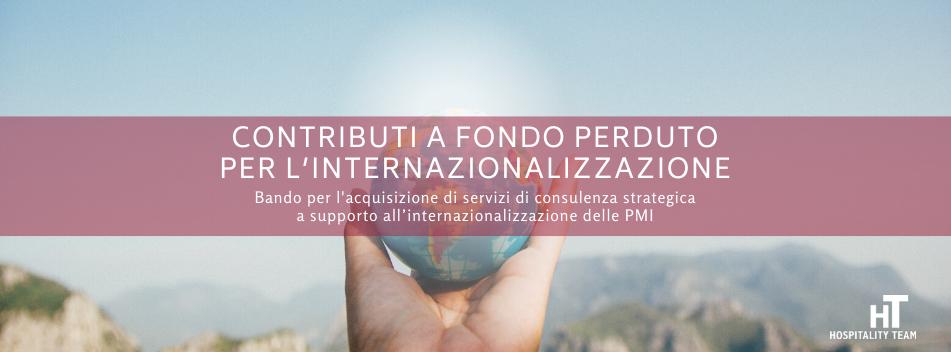 internazionalizzazione, Incentivi all'acquisto di servizi di consulenza strategica per l'internazionalizzazione delle imprese venete, Hospitality Team, Hospitality Team