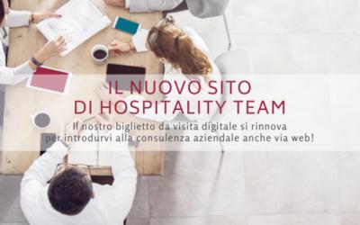 Il sito di consulenza aziendale firmato Hospitality Team si rinnova