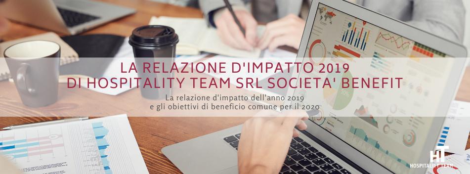 relazione d'impatto, La relazione d'impatto 2019 di Hospitality Team Srl Società Benefit, Hospitality Team, Hospitality Team