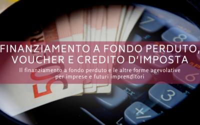 Finanziamento a fondo perduto, voucher e credito d'imposta