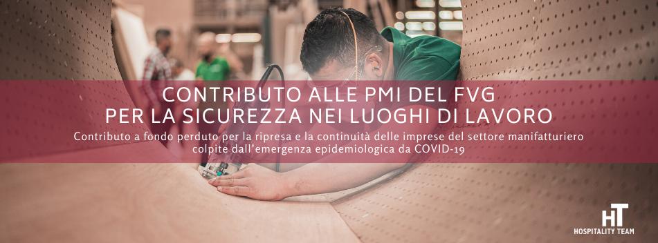 contributo, Contributo alle imprese del Friuli-Venezia-Giulia per la sicurezza nei luoghi di lavoro, Hospitality Team, Hospitality Team