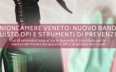 Unioncamere del Veneto: nuovo bando acquisto DPI e strumenti di prevenzione