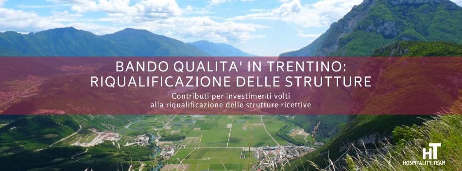 bando qualità in trentino, Bando Qualità in Trentino: contributi a fondo perduto per la riqualificazione delle strutture ricettive, Hospitality Team, Hospitality Team