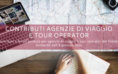 Contributi agenzie di viaggio e tour operator del Veneto colpiti dall'emergenza da Covid-19