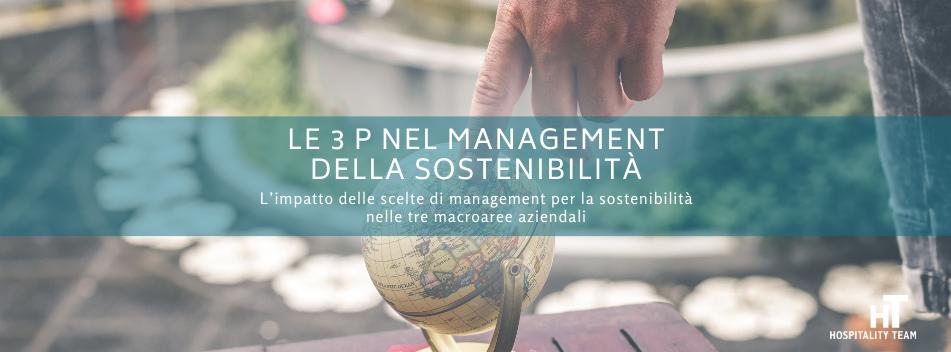 sostenibilità, Le 3 P nel management della sostenibilità, Hospitality Team, Hospitality Team